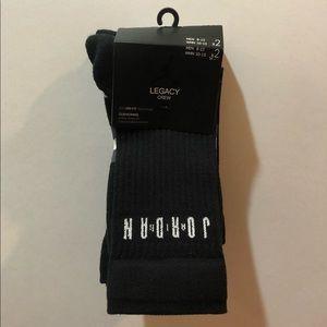 Jordan Legacy Crew Socks, 2 Pack